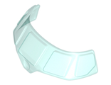 Glass for Aircraft Fuselage Curved Forward 6 x 10 Top with 5 Window Panes, Trans-Light Blue (18908 / 6120645 / 6245291)