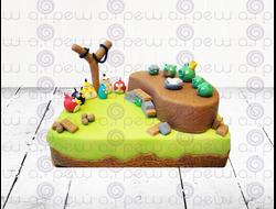 """Торт № 9 """"Angry Birds"""" (Детские торты)"""