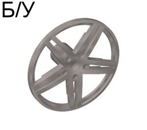 ! Б/У - Wheel Cover 5 Spoke without Center Stud - 35mm D. - for Wheels 54087, 56145 or 44292, Pearl Light Gray (54086 / 4494057 / 4539602) - Б/У
