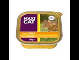 Корм Макси Кэт для кошек, с курицей, паштет, 100 г, Италия