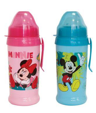 Детский поильник непроливайка Disney Baby Микки и Минни с мягким носиком и клипсой 360 мл