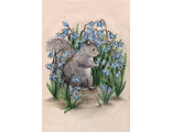 Squirrel in flowers