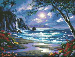 """Алмазная вышивка (мозаика) """"Чудесное побережье"""" 4436 см"""