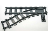 Train, Track Plastic (RC Trains) Switch Point Left, Dark Bluish Gray (53407 / 4293594 / 4516092 / 6085213)