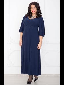 Нарядное платье макси 317-Lux (темно-синий) Размерный ряд: 54-68