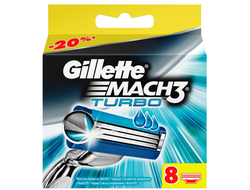 Gillette Mach3 Turbo - 8 шт