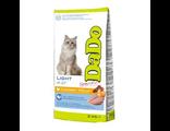 DADO корм для взрослых кошек, низкокалорийный, с курицей, 2 кг, производство Италия