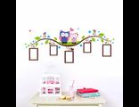 Многоразовая виниловая наклейка в детскую комнату совы фоторамки