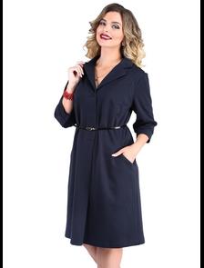 Платье с английским воротником Новита-501-темно-синий. Размерный ряд: 48-56