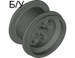 ! Б/У - Wheel 36.8mm D. x 26mm VR with Axle Hole, Dark Gray (6595 / 4141310 / 4179490) - Б/У