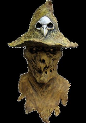 страшная маска, пугало, в шляпе, ghoulish production, ужас, страх, жуткая, масочка, на голову