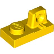 Hinge Plate 1 x 2 Locking with 1 Finger On Top, Yellow (30383 / 4199293 / 6036874 / 6131898)