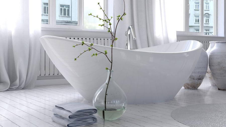 White pure apartment interior design pic bathroom