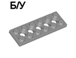 ! Б/У - Technic, Plate 2 x 6 with 5 Holes, Light Bluish Gray (32001 / 4211542) - Б/У