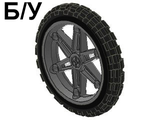 ! Б/У - Wheel 61.6mm D. x 13.6mm Motorcycle, with Black Tire 81.6 x 15 Motorcycle ;2903 / 2902;, Dark Bluish Gray (2903c01) - Б/У