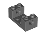Technic, Brick 2 x 4 x 1 1/3 with Holes and 2 x 2 Cutout, Dark Bluish Gray (18975 / 6105731 / 6150297)