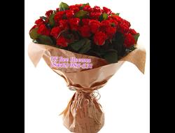 65 красных роз букетом Розы для Тебя