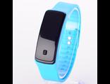 Светодиодные голубые часы на силиконовом браслете(№426)