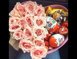 Цветы в коробочке + сладости