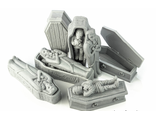 Coffins and sarcophagus (unpainted)