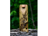 Wooden ocarina in E. Author's pyrography