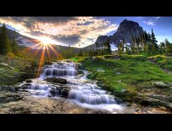 """Алмазная картина (мозаика) """"Начало горной реки"""" 4050 см"""