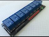 Восьмиканальное управляемое реле со светодиодной индикацией