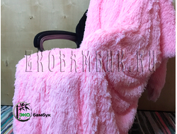 Бамбуковый плед экстра-класса Нежно-розовый 160х210