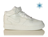 Nike Air Force с мехом унисекс белые