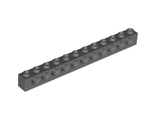 Technic, Brick 1 x 12 with Holes, Dark Bluish Gray (3895 / 4210963)