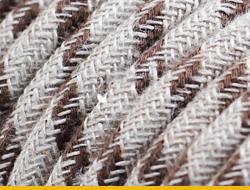 Текстильные электрокабели из натурального льна