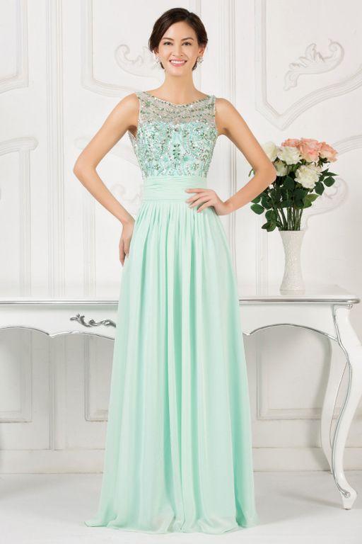 73e3cf4d392 Мятное светло-зеленое вечернее длинное платье с вышивкой
