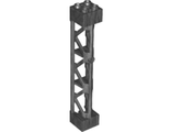 Support 2 x 2 x 10 Girder Triangular Vertical - Type 4 - 3 Posts, 3 Sections, Pearl Dark Gray (95347 / 6263553)