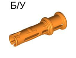 ! Б/У - Technic, Pin 3L with Friction Ridges Lengthwise and Stop Bush, Orange (32054 / 4140428 / 4229603 / 6143033) - Б/У