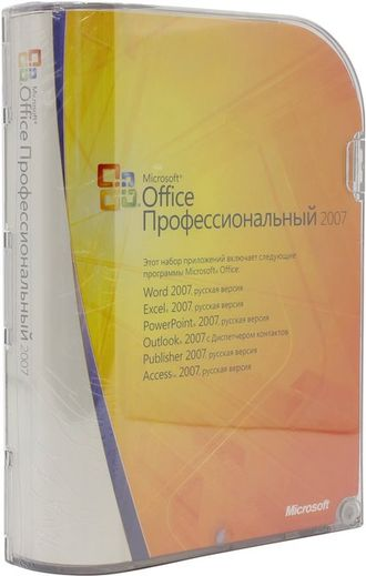 Microsoft Office 2007 professional 269-11634 BOX