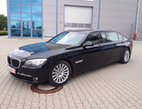 The used elongated and armored limousine based on factory armored BMW 760Li F03 High Security VR7/VR9 +400mm, VPAM BRV2009 part 2, ERV2010, 2014 YP.