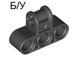 ! Б/У - Technic, Axle and Pin Connector Perpendicular Triple, Black (63869 / 6007966) - Б/У