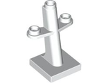 Boat Mast 2 x 2 x 3 Inclined with Stud on Top and Two Sides, White (4289 / 4253859 / 6108866)