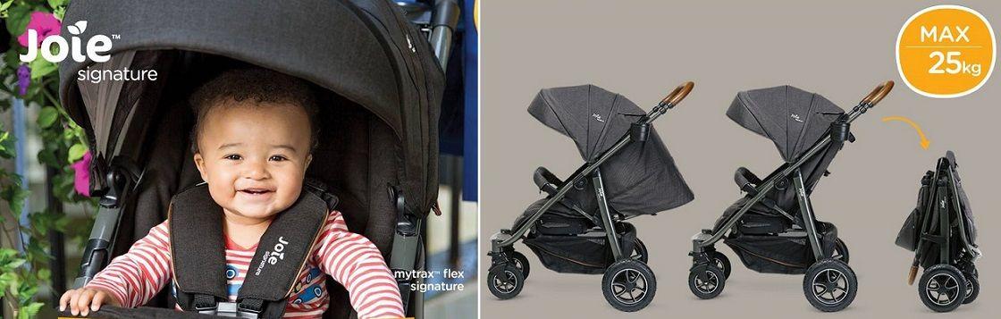 Joie mytrax™ flex signature прогулочной коляски можно использовать с рождения