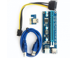 Райзер PCI-e USB 1x-16x 6pin