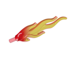 Wave Rounded Large Flame with Marbled Trans-Yellow Pattern, Trans-Red (85959pb01b / 6056842 / 6172283)