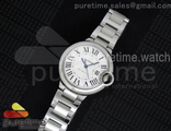 Ballon Bleu 33mm Steel Braclete White Dial