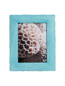 Фоторамка PHOTO FRAME URSINA BLUE 28X23CM POLYRESIN арт. 30853