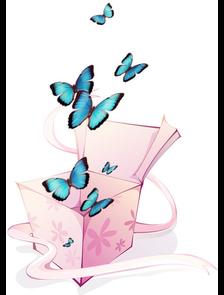 """Салют """"ЖЕЛАНИЕ"""" из 10 голубых бабочек"""