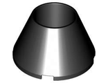 Cone 4 x 4 x 2 Hollow No Studs, Black (4742 / 4550922)