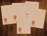"""Бумага для писем 5 листов """"Крафтовый воздушный шар"""""""