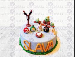 """Торт № 17 """"Angry Birds"""" (Детские торты)"""