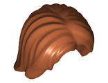 Minifig, Hair Mid-Length Tousled with Center Part, Dark Orange (88283 / 6006514)