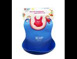Силиконовый нагрудник для кормления roxy kids синий