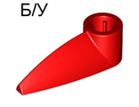 ! Б/У - Bionicle 1 x 3 Tooth with Axle Hole, Red (x346 / 4185661) - Б/У